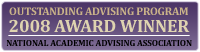 2008 Award Winner for Outstanding Advising Program