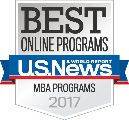 Badge Best Online MBA Programs 2017