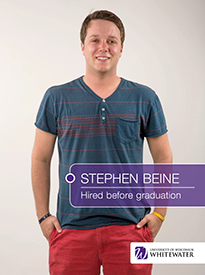 Stephen Beine - Hired before graduation - University of Wisconsin - Whitewater | Business School - Wisconsin, USA