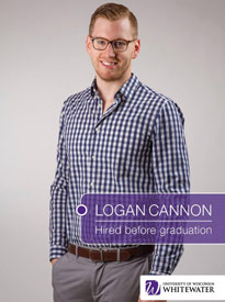 Logan Cannon - Hired before graduation - University of Wisconsin - Whitewater | Business School - Wisconsin, USA