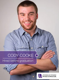 Cody Cooke - Hired before graduation - University of Wisconsin - Whitewater | Business School - Wisconsin, USA