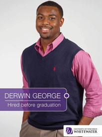Derwin George - Hired before graduation - University of Wisconsin - Whitewater | Business School - Wisconsin, USA