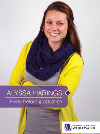 Alyssa Harings - Hired before graduation - University of Wisconsin - Whitewater | Business School - Wisconsin, USA