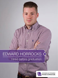 Edward Horrocks - Hired before graduation - University of Wisconsin - Whitewater | Business School - Wisconsin, USA