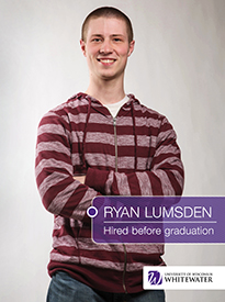 Ryan Lumsden - Hired before graduation - University of Wisconsin - Whitewater | Business School - Wisconsin, USA