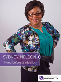 Sydney Nelson - Hired before graduation - University of Wisconsin - Whitewater | Business School - Wisconsin, USA