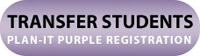 Plan-It Purple registration for transfer students