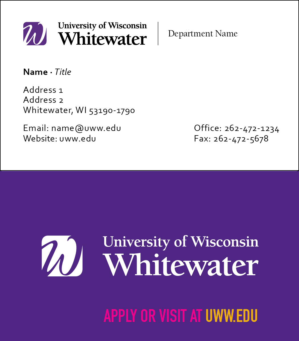 Business cards university of wisconsin whitewater facultystaff business card request email signature colourmoves