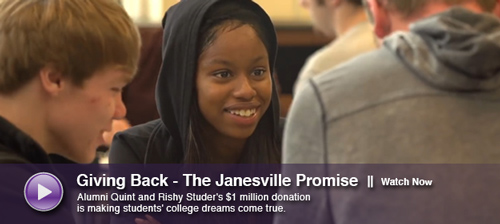 Giving Back - The Janesville Promise Scholarship