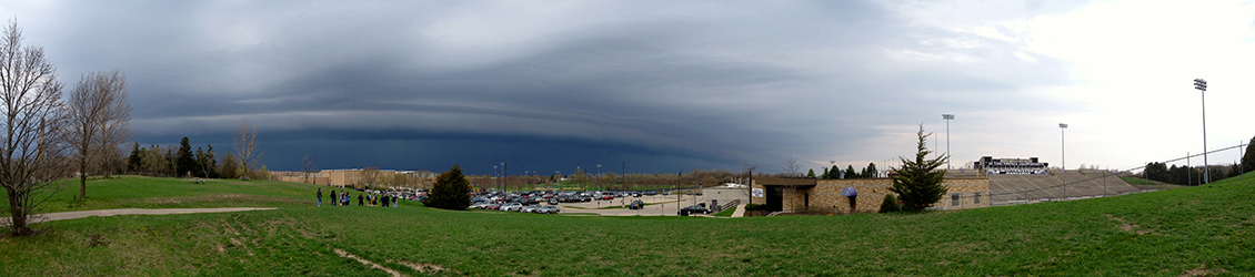 Storm Coming Through UW-Whitewater