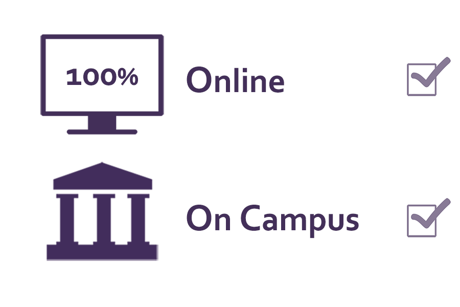 Classes offered online and on campus