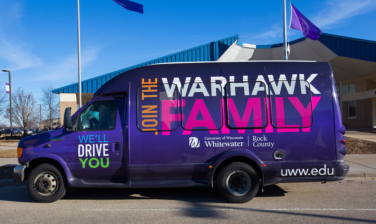 UW-Whitewater Shuttle bus