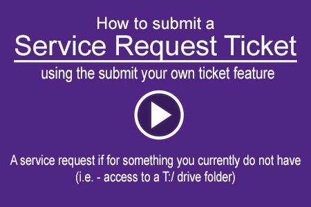 Helpdesk Service Ticket How To Video