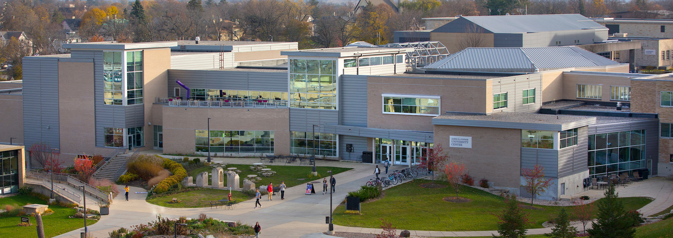 Overhead view of UW-Whitewater's University Center