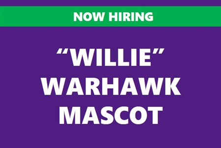 """Willie"" the Warhawk Mascot"