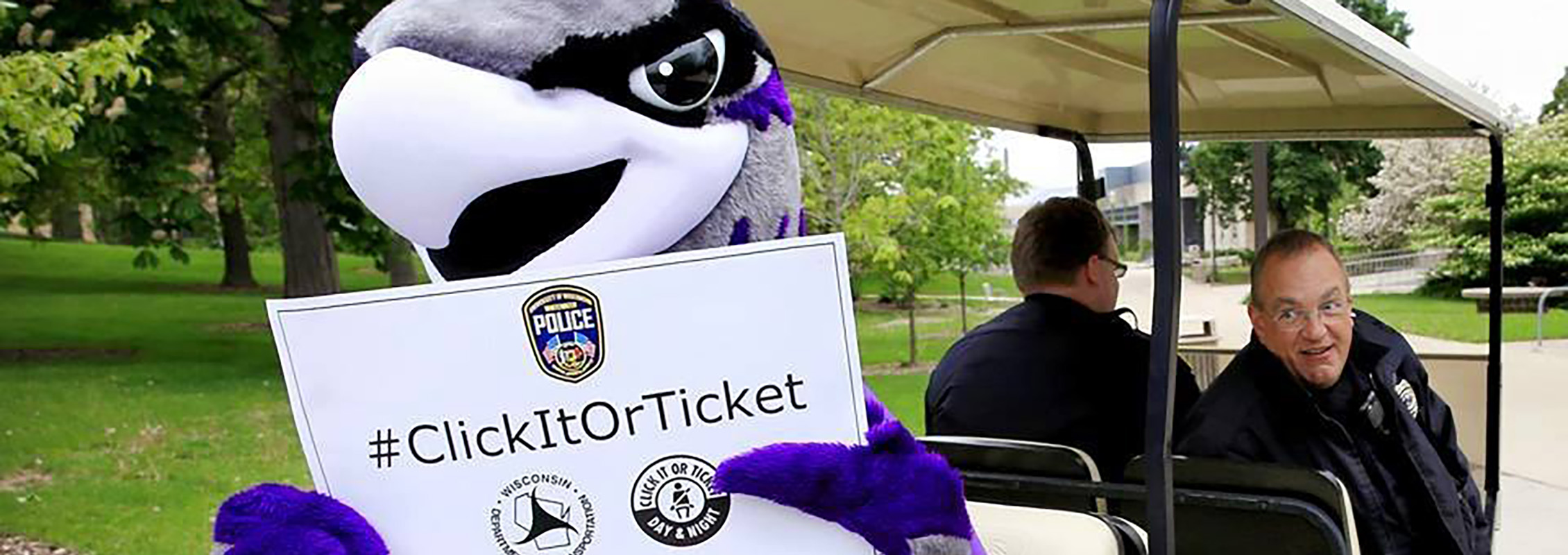 UW-Whitewater Police Department with Willie Warhawk