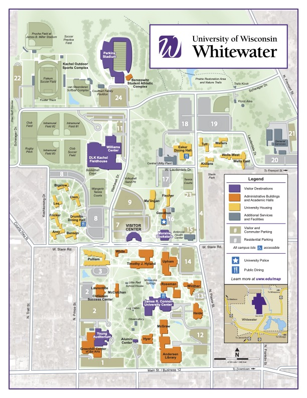 University Of Wisconsin Campus Map Campus Map | University of Wisconsin Whitewater