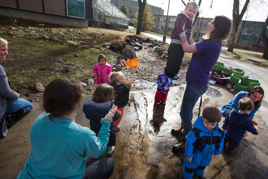 Image of children playing outside.