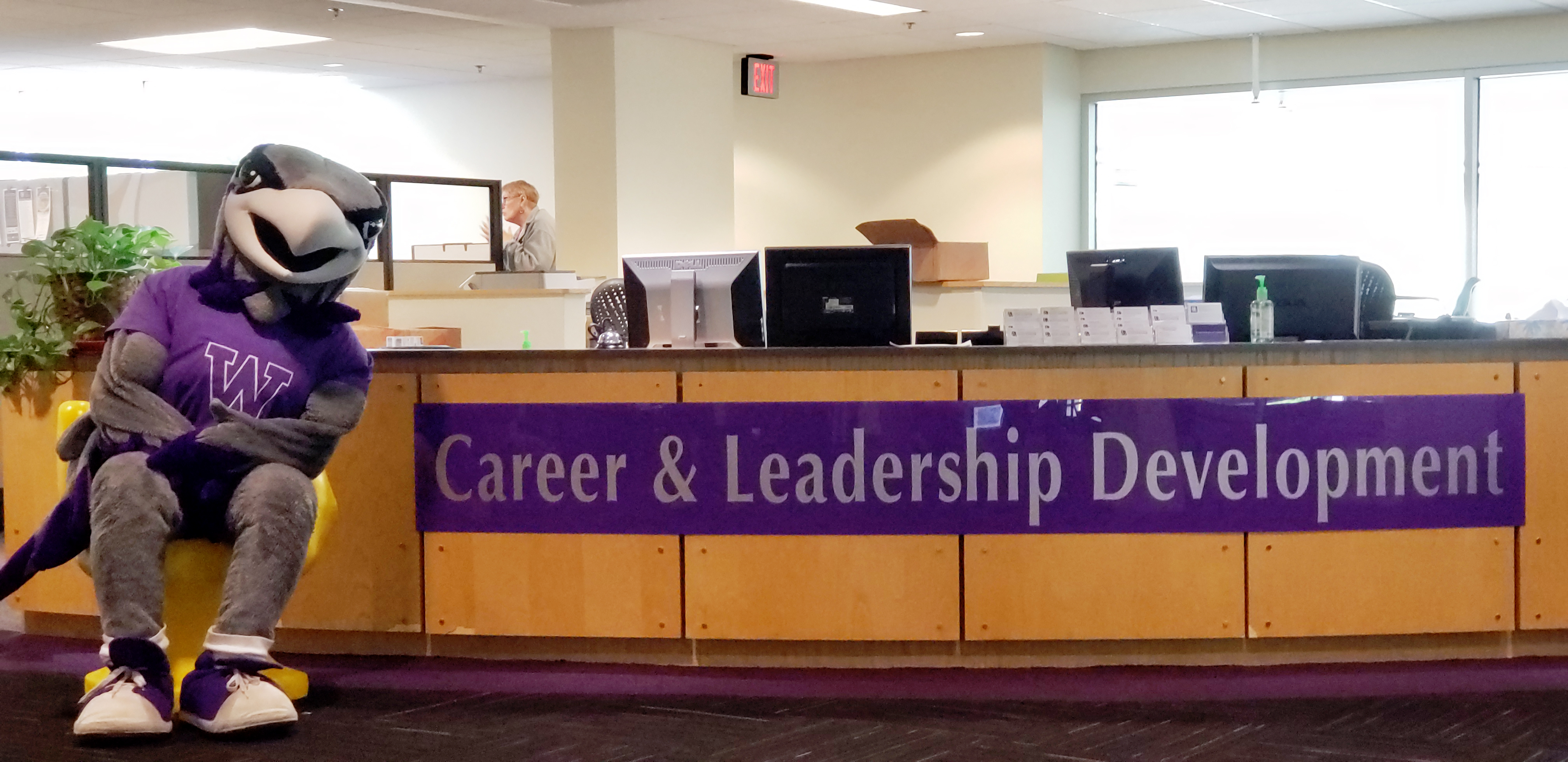 Wille Warhawk at the Career and Professional Department