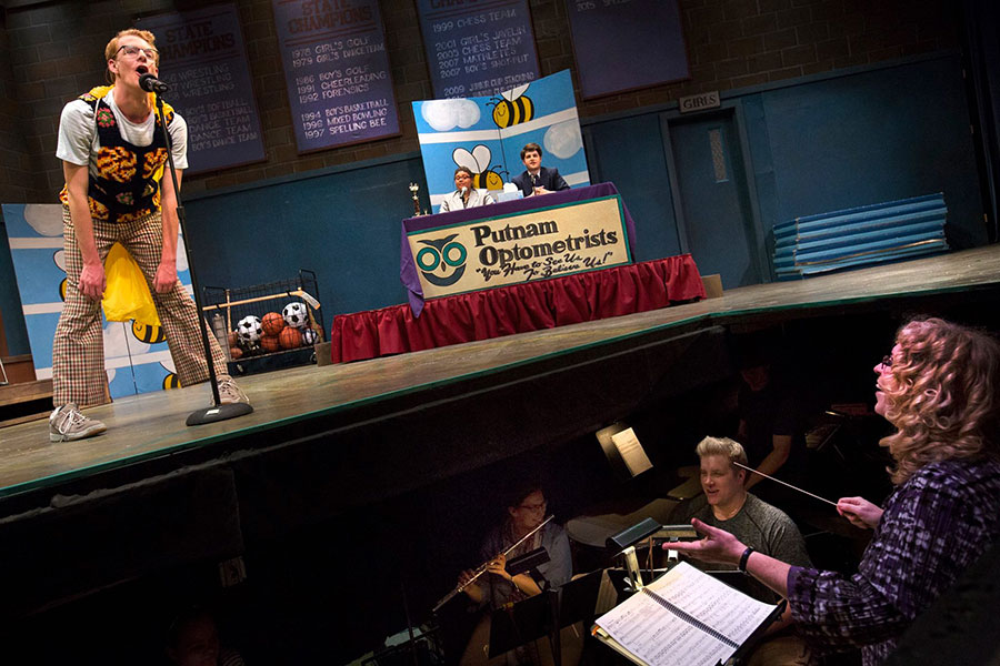 25th Annual Putnam County Spelling Bee photo (UW-Whitewater photo/Craig Schreiner)