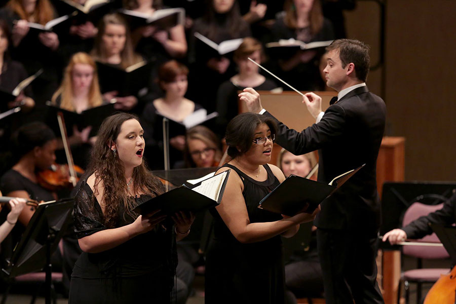choral ensembles and orchestra perform at Gala  (UW-Whitewater photo/Craig Schreiner)