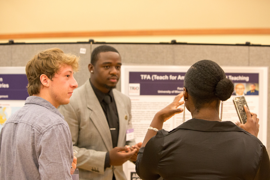 Students present their undergraduate research