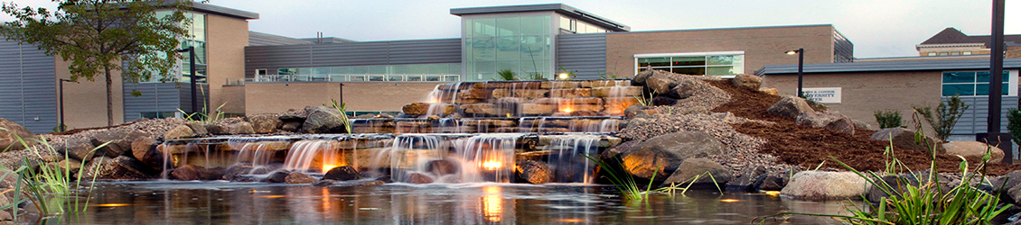 Waterfall and UC in the evening