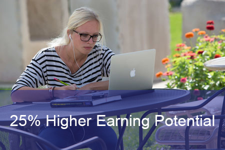 25% higher earning potential