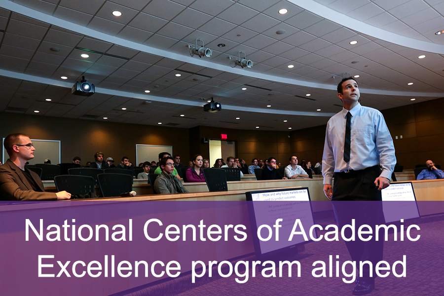 Curriculum is aligned with the National Centers of Academic Excellence program