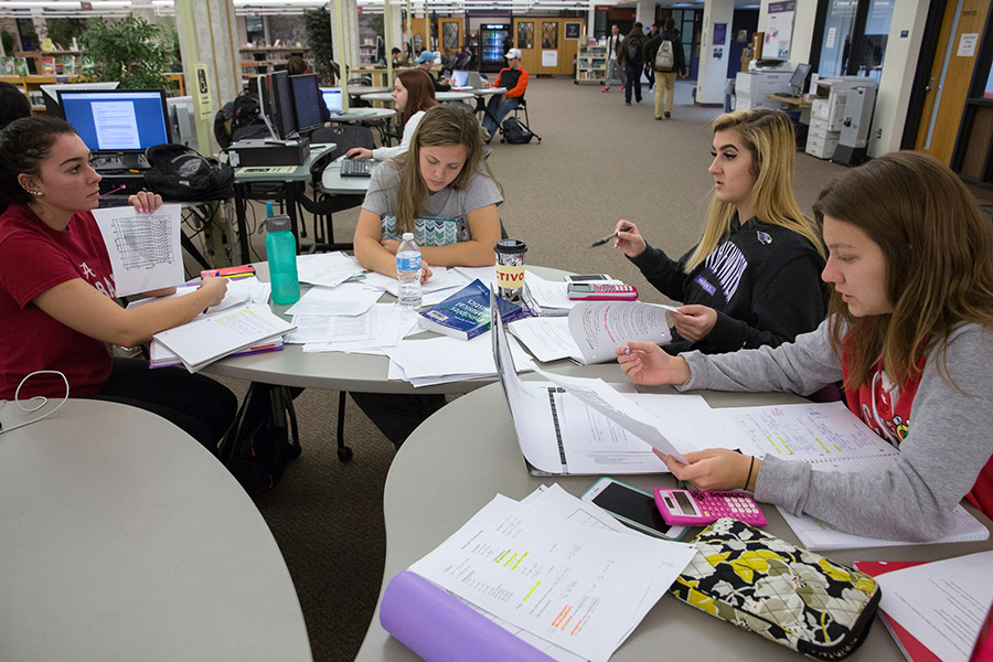 Students engaging in study at UW-Whitewater
