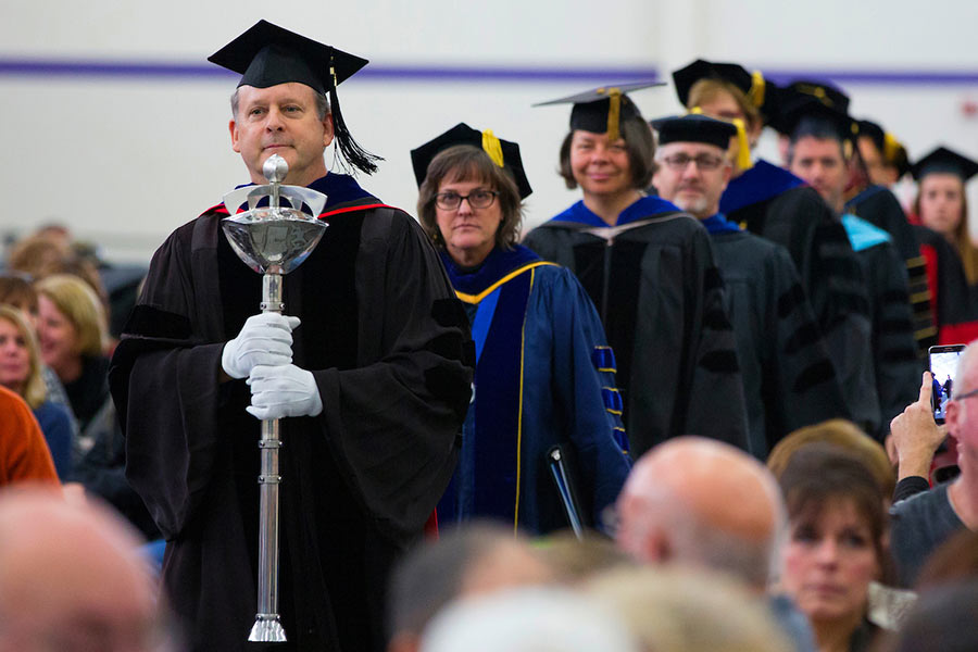 UW-Whitewater employees at commencement