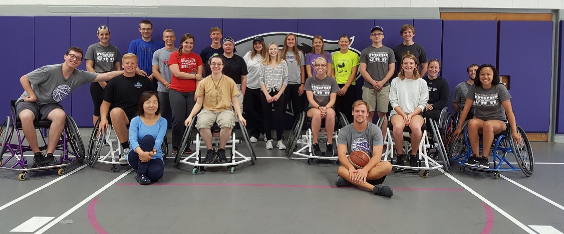Honors Multicultural Events Class Tries Wheelchair Basketball