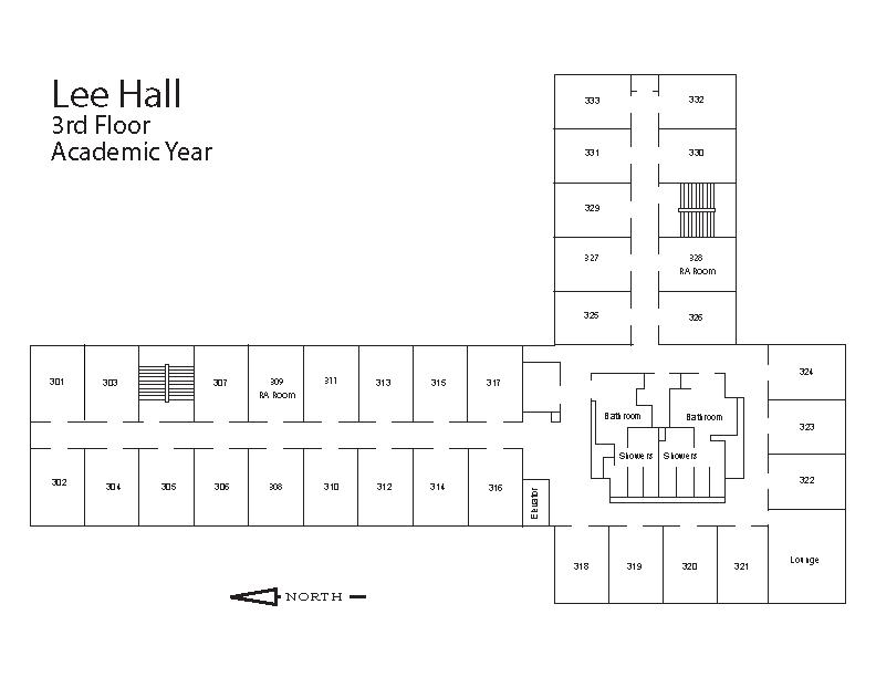 Lee Hall Floorplan University Of Wisconsin Whitewater