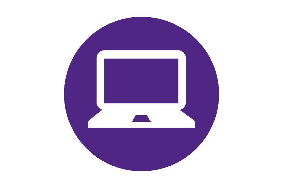 Icon of a laptop for remote learning