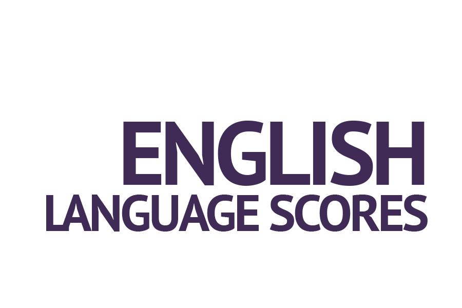 International student english language scores