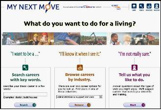 My Next Move web site screenshot