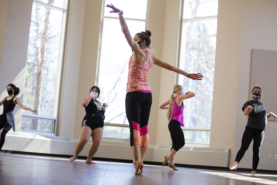 Piper Morgan Hayes teaches in the Dance Studio.