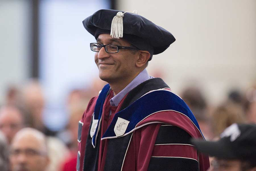 Praveen Parboteeah at a commencement ceremony.