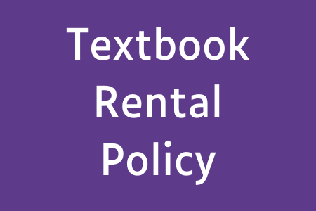 Textbook Rental Policy
