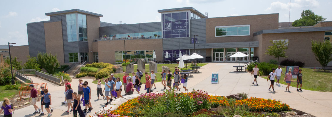 Overhead view of the UW-Whitewater University Center