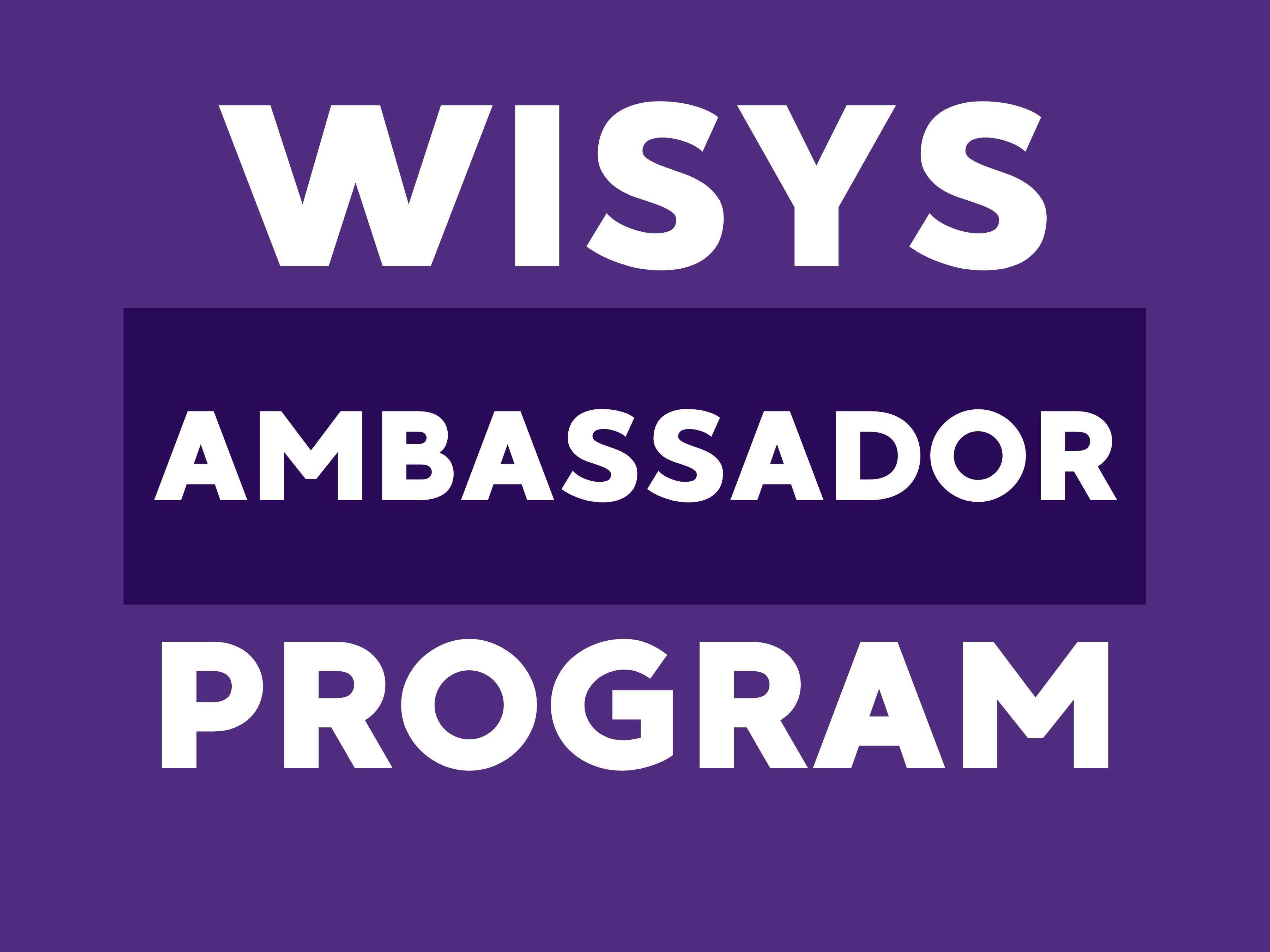 WiSys Ambassador Program
